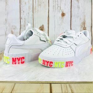 RARE PUMA Cali Bold NYC Platform Sneakers